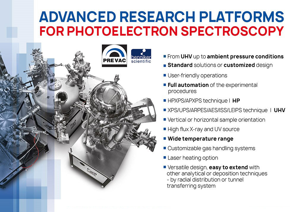 Hen Scientific - photoelectron spectrscopy systems