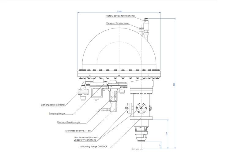 Henniker Scientific EA15 Energy Analyser Dimensions