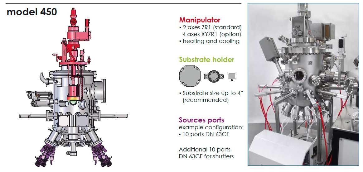 henniker scientific prevac mbe system vacuum chamber model 450