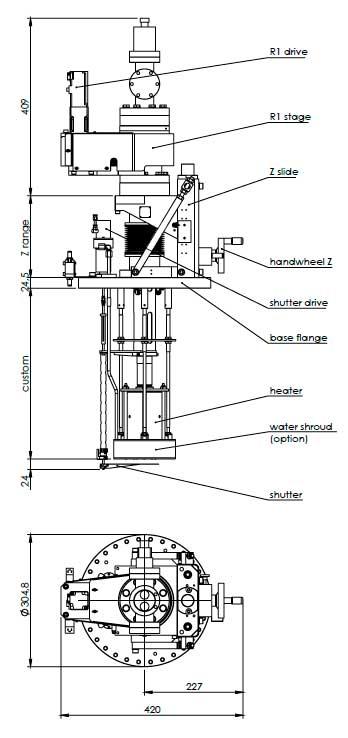 Henniker Scientific Low Temperature 1-2 axes-mbe