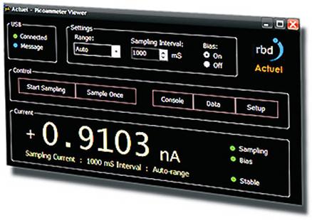 henniker scientific RBD Instruments picoammeter software